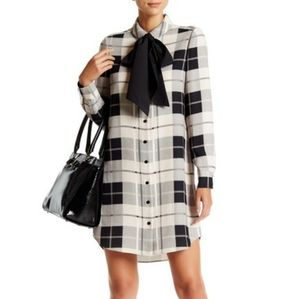 kate spade long sleeve plaid shirt dress size 6